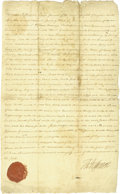 Autographs:U.S. Presidents, Thomas Jefferson Signed Land Grant....