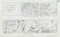 "Original Comic Art:Miscellaneous, Jack Kirby Fantastic Four ""Blastaar the Living Bomb Burst""Storyboard #64 Original Animation Art (DePatie-Freleng,..."