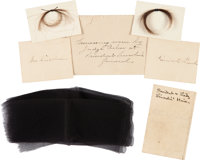 Abraham Lincoln and Mary Todd Lincoln: Locks of Hair and Mourning Band with Provenance