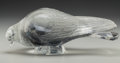 Art Glass:Lalique, R. Lalique Clear and Frosted Glass Pigeon Vèrviers. Circa1932. Stenciled R. LALIQUE. M p. 491, No. 1206. L. 11 ...