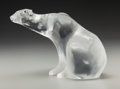 Art Glass:Lalique, Lalique Clear and Frosted Glass Polar Bear. Late 20th century.Engraved Lalique France. Ht. 6 in.. ...