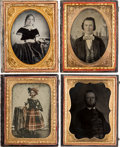 Photography:Ambrotypes, Quarter Plate Ambrotypes.... (Total: 12 Items)
