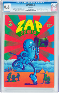 Zap Comix #4 (Apex Novelties, 1969) CGC NM+ 9.6 White pages