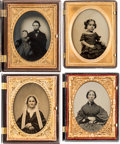 Photography:Ambrotypes, Quarter Plate Ambrotypes and Tintypes. ... (Total: 8 Items)