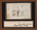 Autographs:Celebrities, Judge Roy Bean: His Rare Signature Matted with an Apparently Unpublished Cabinet Photo by Del Rio, Texas Photographer J. C. Char...