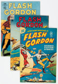 Golden Age (1938-1955):Science Fiction, Flash Gordon Group of 3 (Dell/Harvey, 1945-50).... (Total: 3 ComicBooks)