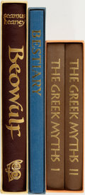 Books:Fine Press & Book Arts, [Fine Press]. [Fine Binding & Library Sets]. Group of ThreeTitles. London: The Folio Society, [various dates].... (Total: 4Items)