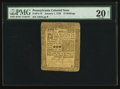 Colonial Notes:Pennsylvania, Pennsylvania January 1, 1756 15s PMG Very Fine 20 Net.. ...