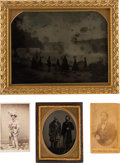 Photography:CDVs, Full Plate Photo of Niagara Falls & 3 Images of Mountain Men.... (Total: 4 Items)