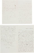 Political:Small Paper (pre-1896), Gideon Welles: Pair of 1860 Letters.... (Total: 2 Items)