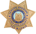 """Western Expansion:Cowboy, """"Diamond Ted"""" Lewis: His New Mexico Deputy Sheriff's Badge...."""