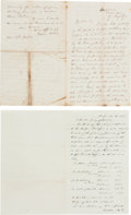 Political:Small Paper (pre-1896), Gideon Welles: 1857 and 1872 Autographed Letters Signed.... (Total: 2 Items)