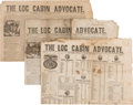 Political:Small Paper (pre-1896), William Henry Harrison. Three Log Cabin Campaign Newspapers...