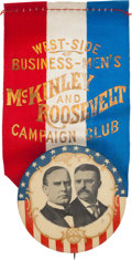 Political:Ribbons & Badges, McKinley & Roosevelt: Jugate Ribbon Badge and More.... (Total: 2 Items)