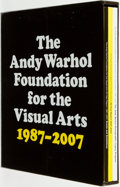 Books:Art & Architecture, [Andy Warhol]. The Andy Warhol Foundation for the Visual Arts 20-Year report 1987 - 2007. [New York: The Andy Warhol...