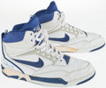 Basketball Collectibles:Others, 1990-91 Mario Elie Game Worn, Signed Philadelphia 76ers Shoes....