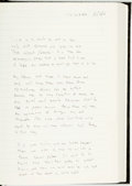 Books:Literature 1900-up, [Poetry]. Rod McKuen. Notebook Containing Manuscript Poems inMcKuen's Hand. Circa 2006 - 2011. . ...