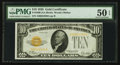 Small Size:Gold Certificates, Fr. 2400 $10 1928 Gold Certificate. PMG About Uncirculated 50 EPQ.. ...