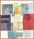 Post-War & Contemporary:Pop, Robert Rauschenberg (1925-2008). Van Vleck Series VI, 1978.Solvent transfer on fabric collaged to wooden panel with acr...