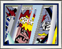 Roy Lichtenstein (1923-1997) Reflections on Crash (from Reflections series), 1990 Lithogr