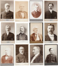 Photography:Studio Portraits, 19th-Early 20th Century Political Figures: A Great Group Lot of Fifty Identified Cabinet Photos....
