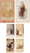 Photography:Cabinet Photos, Interesting 19th Century People: A Nice Group of Six Cabinet Photosand CDVs....