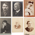 Photography:Studio Portraits, Authors, Playwrights, and Journalists: Twenty-one Identified 19th-early 20th Century Cabinet Photos....