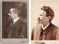 Photography:Cabinet Photos, Famous Americans: Scarce Cabinet Photos of Louis Comfort Tiffany and Influential Satirist Joseph Keppler....
