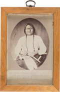 Photography:Studio Portraits, Sitting Bull: A Fine 1882-dated Cabinet Photo by Bailey, Dix, & Mead....