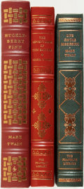 Books:Fine Bindings & Library Sets, [Fine Binding & Library Sets]. Mark Twain. Trio of Easton Press and Franklin Library Books. Various publishers and dates.... (Total: 3 Items)