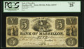 Obsoletes By State:Ohio, Massillon, OH - Bank of Massillon $5 Jul. 1, 1853 Wolka 1609-07....