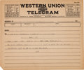 Transportation:Nautical, R.M.S. Titanic: Distress Telegram Sent to the White Star Line....