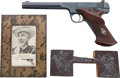 """Handguns:Single Action Revolver, """"Diamond Ted"""" Lewis: Performance-used High Standard Model E .22Caliber Single Shot Pistol, Marked with Ted's """"Brand.""""... (Total: 6Items)"""