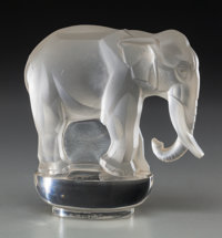 608 Lalique Crystal Elephant Paperweight Figure Lot