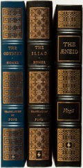 Books:Fine Bindings & Library Sets, [Fine Binding & Library Sets]. [Literature]. Group of Three Classic Greek Titles. The Easton Press, [various dates].... (Total: 3 Items)