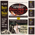 """Movie Posters:Science Fiction, The She-Creature/It Conquered the World Combo (AmericanInternational, 1956). Six Sheet (79"""" X 80.5"""").. ..."""