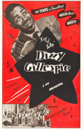 "Movie Posters:Musical, Dizzy Gillespie and His Orchestra (Transvideo Corporation ofAmerica, Late 1940s). One Sheet (27"" X 41.5"").. ..."