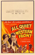 "Movie Posters:Academy Award Winners, All Quiet on the Western Front (Universal, 1930). Window Card (14""X 22"").. ..."