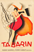 "Movie Posters:Miscellaneous, Tabarin by Paul Colin (Paris, 1928). Full-Bleed Poster (15.75"" X23.5"").. ..."