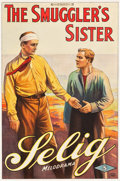 "Movie Posters:Drama, The Smuggler's Sister (Selig, 1914). One Sheet (27"" X 40"").. ..."