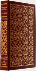 Books:Fine Bindings & Library Sets, Lawrence Durrell. SIGNED. Justine. Franklin Center: The Franklin Library, 1980....