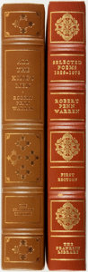 Books:Fine Bindings & Library Sets, [Fine Binding & Library Sets]. Robert Penn Warren. Pair of Titles. Includes: Selected Poems 1923-1975. [and:] Al... (Total: 2 Items)