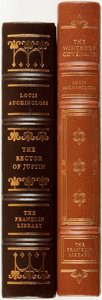 Books:Fine Bindings & Library Sets, [Fine Binding & Library Sets]. Louis Auchincloss. Pair of Titles, One of Which is SIGNED. Franklin Center: The Franklin Libr... (Total: 2 Items)