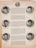 Baseball Collectibles:Programs, 1951 Mickey Mantle & Others Signed World Series Program....