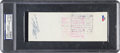 Baseball Collectibles:Others, 1963 Roberto Clemente Signed (Endorsed) Check....