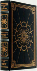 Books:Fine Bindings & Library Sets, Theodore H. White. SIGNED. In Search of History. Franklin Center: The Franklin Library, 1980....