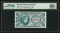 Military Payment Certificates:Series 651, Series 651 25c PMG Gem Uncirculated 66 EPQ.. ...