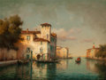 Fine Art - Painting, European:Modern  (1900 1949)  , Antoine Bouvard (French, 1870-1956). View of a VenetianCanal. Oil on canvas. 20-1/2 x 25-1/2 inches (52.1 x 64.8 cm).S...