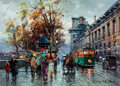 Paintings, Antoine Blanchard (French, 1910-1988). Quai du Louvre. Oil on canvas. 13 x 18 inches (33.0 x 45.7 cm). Signed lower righ...