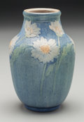 Ceramics & Porcelain, American:Modern  (1900 1949)  , Newcomb College Semi-Matte Glazed Ceramic Daisy Vase by AlmaMason . Potted by Joseph Meyers. Circa 1914. Incise...